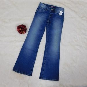 Union Bay Low Rise Distressed Denim Flare Jean Jrs
